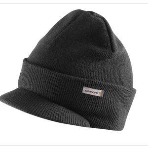 Carhartt Black Knit Hat With Visor